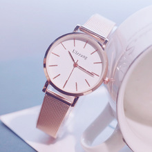 купить 2019 Rose Gold Watches Women Luxury Fashion Stainless Steel Ladies Wrist Watches Top Brand Quartz Clock Silver Watch reloj mujer дешево