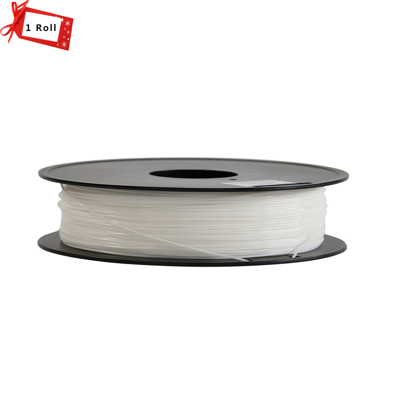 White Color 3D Printer Filament 1.75 mm PLA/ABS Materials for 3D Printer 1KG/Roll for 3D printer and 3D pen micromake 3d printer filament high quality pla materials 1 75mm for 3d printer 1kg environmental consumable