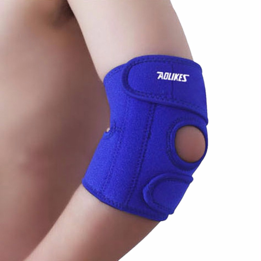 AOLIKES adjustable wristbands bandage Sport safety Elbow Knee Pads shin protector guard pad Knee Supports Tonsee