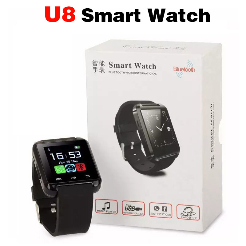 2018 New SmartWatch U8 Smart Watch SIM TF Call For IOS Android Apple Phone Music Bluetooth Smartwatch pedometer Sport Smartband