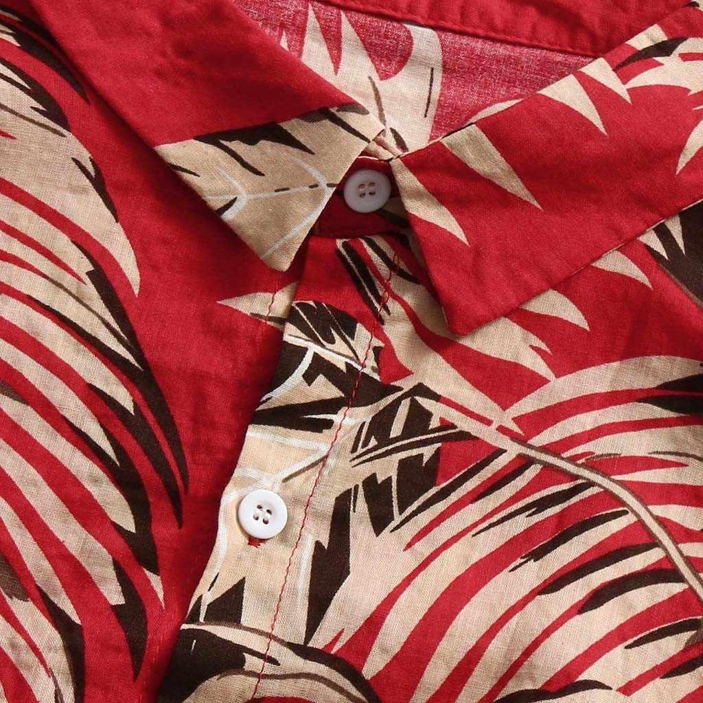 メンズ夏のビーチアロハシャツ 2018 ブランド半袖プラスサイズ花シャツ男性カジュアル休日休暇服 Camisas