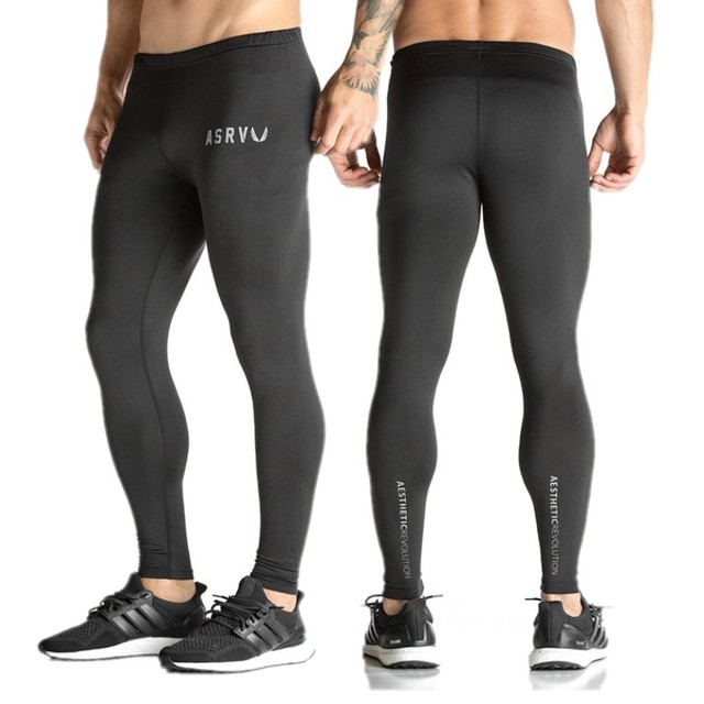Mens compression pants bodybuilding jogger fitness exercise skinny leggings comperssion tights pants trousers clothes clothing