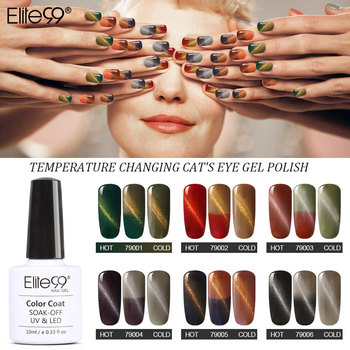 Elite99 Volle 28 teile/satz Nagellack Katze Auge Temperatur Farbwechsel Gel Lack Elegante Nail art Gel Lack Tränken Weg Von UV glasur
