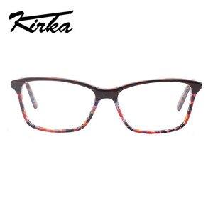 Image 4 - Kirka óculos ópticos feminino óculos quadros óculos para mulher leopardo impressão prescrição óculos quadro