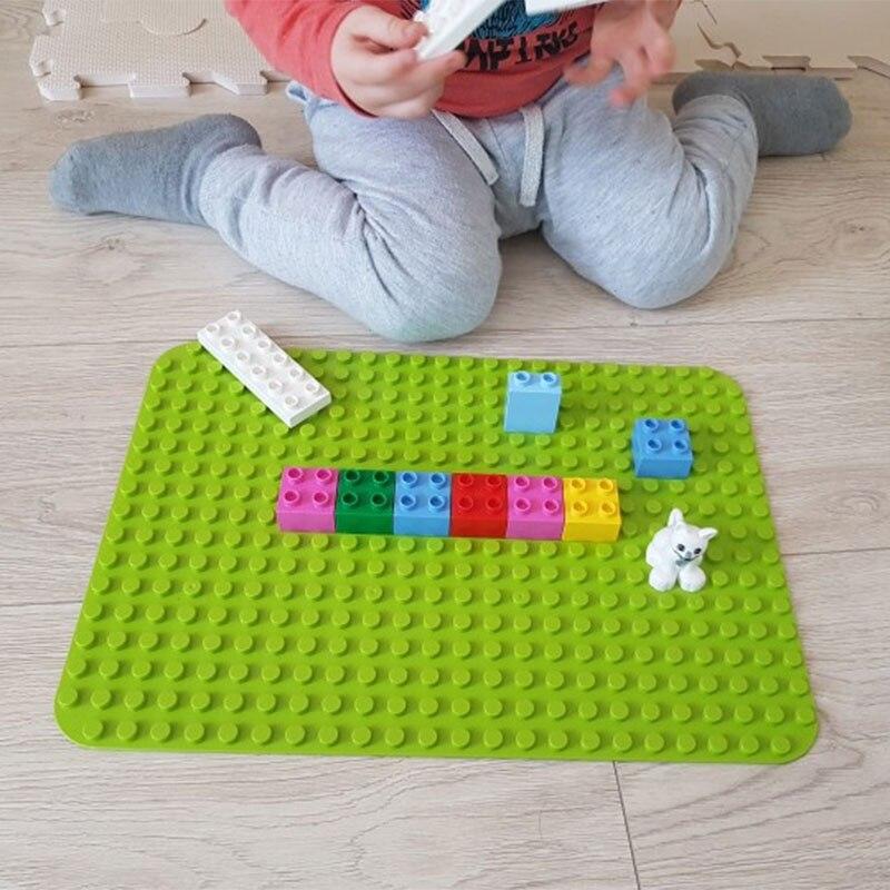 Duploe Grandes Blocos Placa de Base 404 Pontos DIY Grande Baseplate Blocos de Construção de Brinquedos Para As Crianças Compatíveis com Duploed Brinquedos para kid