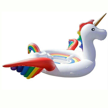 цена на Inflatable Unicorn Pool Float Mat Giant Inflatable Water Bed Kids Adults Family Party Toys Water Game Toys Summer Best