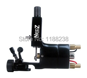 Black Permanent Makeup machine Gun Professional NEDZ Style Rotary Tattoo Machine Liner&Shader Cheap Machine Supply Free Shipping 1set pro neuma style rotary tattoo gun machine for shader