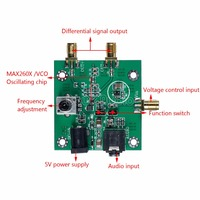 MAX2606 VCO RF Transmitter Module Audio IN Differential Single Ended OUT Board
