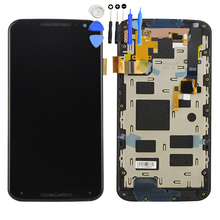 For Moto X+1 X2 XT1092 XT1095 XT1097 LCD Display Digitizer Touch Screen Panel Assembly With Frame Free Tools