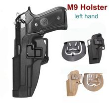 Left /Right Hand Quick Draw Tactical Airsoft Gun Holster Military Right Belt Carry Case Pistol Beretta M9 92 96