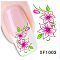Flowers and Butterfly Nail Art Decals Water Transfer Stickers Decoration XF1003