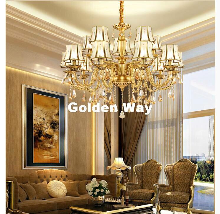 Европейская латунная Подвесная лампа, античная латунная люстра, винтажное полное медное стекло AC110V/220 V 100% гарантия бесплатная доставка