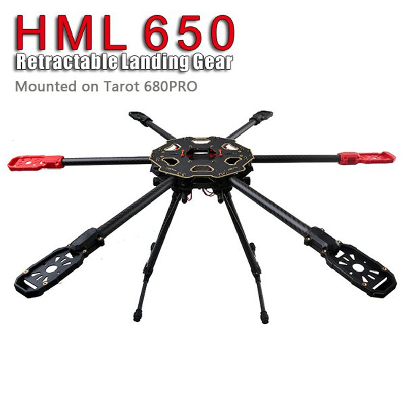 Tarot HML650 Carbon Fiber Folding Landing Gear Landing Skid for Tarot 650 680PRO HMF S550 Multicopters FPV Photography Drone fpv t shape carbon fiber landing gear skid for rc multicopter for x650 s550 more black