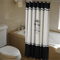 Crown Shower Curtain Alphabet Tower Polyester Fabric Bath Curtains With Hook For Home Bathroom Decorations Banheiro