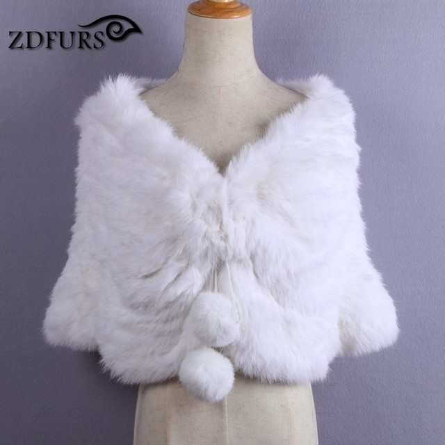 White Fur Stole >> Zdfurs Bridal Real Rabbit Fur Shawl Stole Wrap Wedding Winter Cape