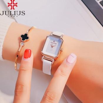 New Lady Women's Watch Japan Quartz Retro Elegant Fashion Hours Dress Bracelet Leather Girl Birthday Gift Julius Box