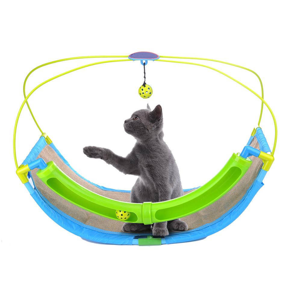 nueva marca hamaca gato divertido columpio que cuelga cama sof casa de descanso con campanas para