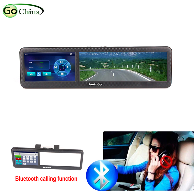 Iaotugo Car GPS Navigator Rearview-Mirror Bluetooth with MTK 800mhz in FM 4g-Offer Free-Maps
