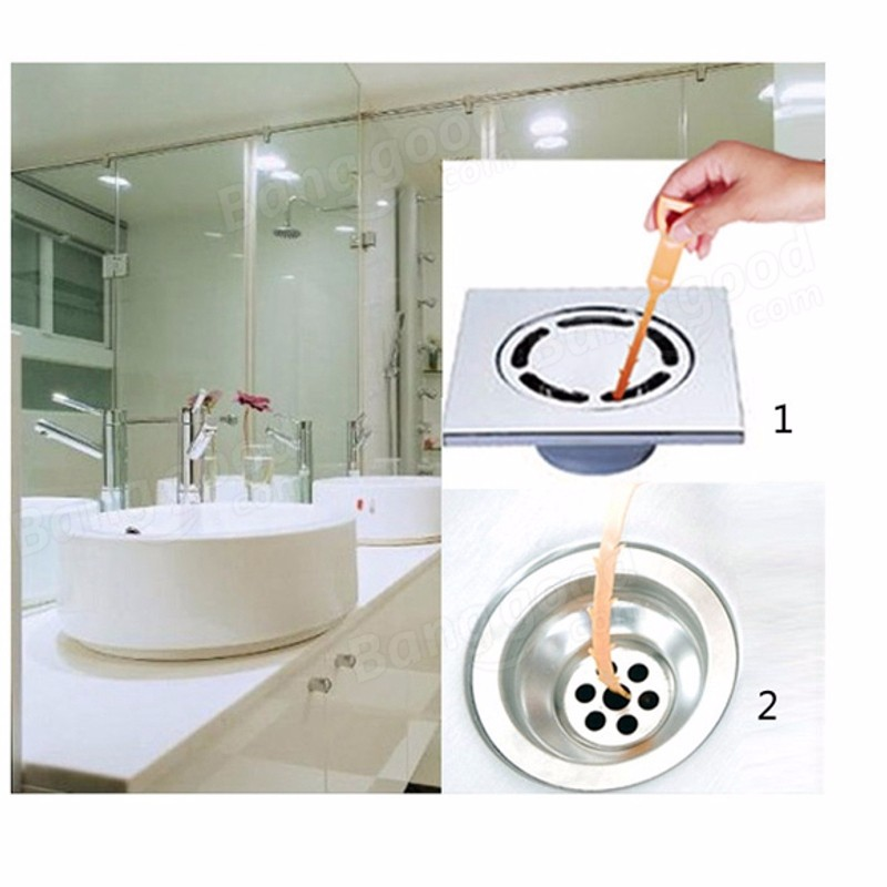 New Plastic Sink Drain Dredge Pipeline Hook Unclog Tub Snake Brush Hair Cleaner Removal Tool Bathroom Kitchen Cleaning Supplies In Brushes From