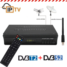 Koqit DVB T2 DVB S2 Receptor Decoder Combo TV Tuner wifi Satellite Receiver Cccam Youtube Biss Vu AC3 Terrestrial Iptv TV Box