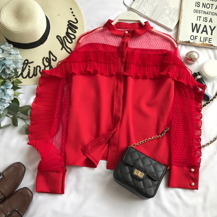 Women's Clothing Neploe Japanese Sweet Lace Shirt Strapless Slash Neck Ruffles Blouse Elegant Princess Flare Sleeve Female Blusas Tops 37561