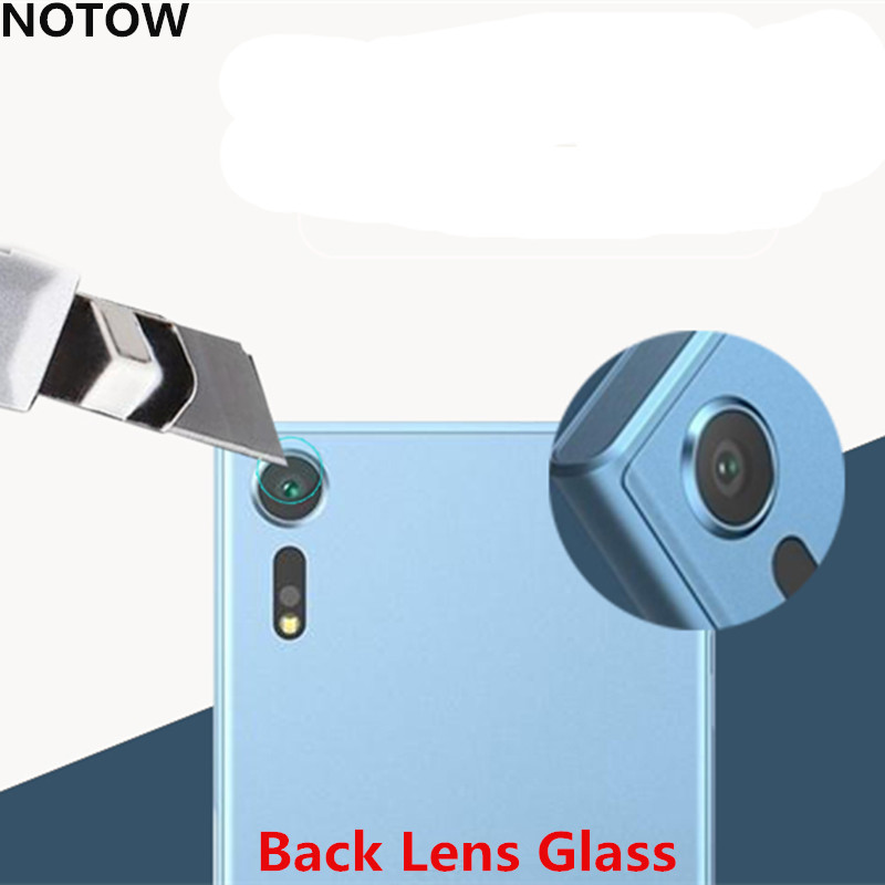 NOTOW flexible Rear Transparent Back Camera Lens Tempered Glass Film Protector Case For Sony Xperia XZs