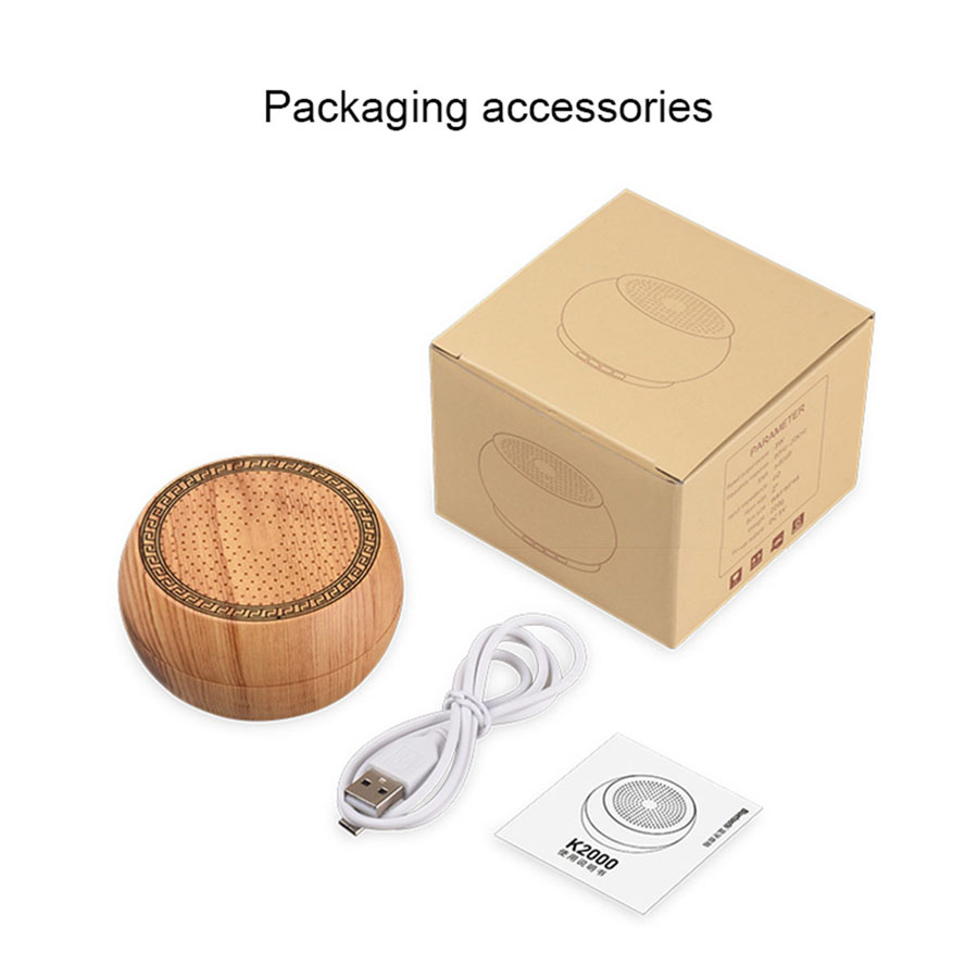 Portable Wooden Wireless Bluetooth Speaker Hands-free With Microphone Speakers Boombox Support TF Card MP3 Music Play Speaker