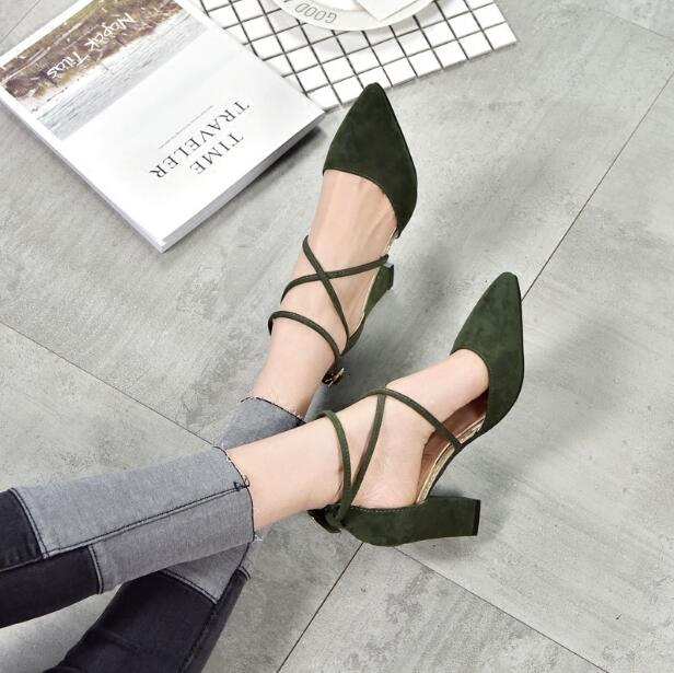 2018 New Fashion Womens Pumps Summer Shoes Pointed Toe Lady aa0732