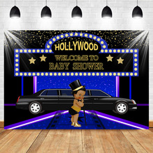 NeoBack Hollywood Newborn Baby Shower Backdrop Welcome to Royal Prince Super Star Backdrops Photography Background