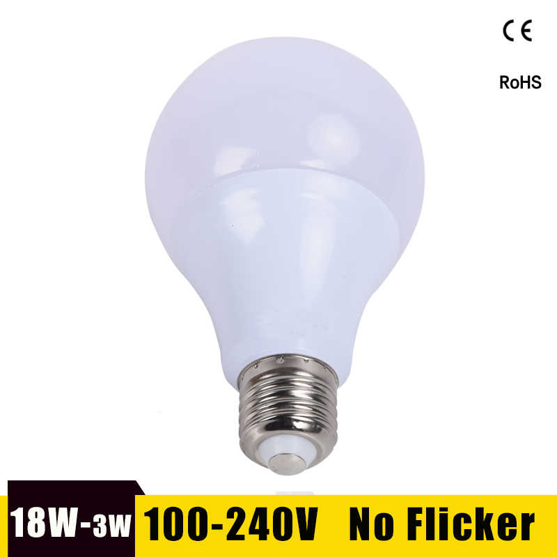 LED Bulb E27 LED Lamp 18W 15W 12W 9W 7W 5W 3W Lampara Led Bombillas 220V 110V For Indoor Lighting Cold/Warm White Led Light Lamp