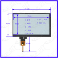 ZhiYuSun KDT 5626 7inch Capacitive Screen For GPS CAR 164mm*99mm sensor glass this's compatible Freeshipping 164*99