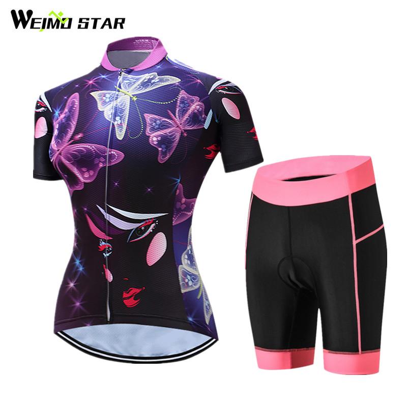 Weimostar Summer Short Sleeve Women Cycling Jersey Sets Team Racing Sport Cycling Clothing MTB Road Bicycle Bike Jersey Ciclismo women cycling jersey sets breathable short sleeve sport wear for mtb bicycle 2017 summer outdoor sport cycling clothes ciclismo