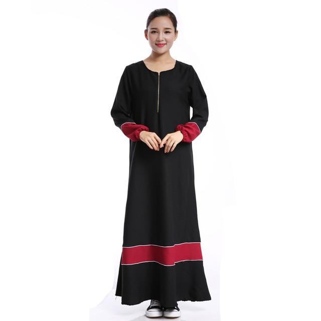 9243619adde7e الجديد 2018 الملابس العبايات الإسلامية العباءة مسلم اللباس طويلة الأكمام  خليط اللون للنساء الملابس تركيا فساتين