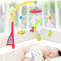Baby Toys 0 12 Months Crib Mobile Musical Bed Bell with Animal Rattles Projection Cartoon Early Learning Kids Toy