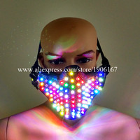 Красочные подсветкой маска ночной клуб показать подсветка мигает Хэллоуин маскарад Маски для вечеринок Производительность танцевальная о