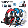 GM-2 Casque Gaming Headset 3.5mm wired fones for phone PS4 PSP PC Tablet gamer Microphone Headband Led Light PK GM-1 Each G2000