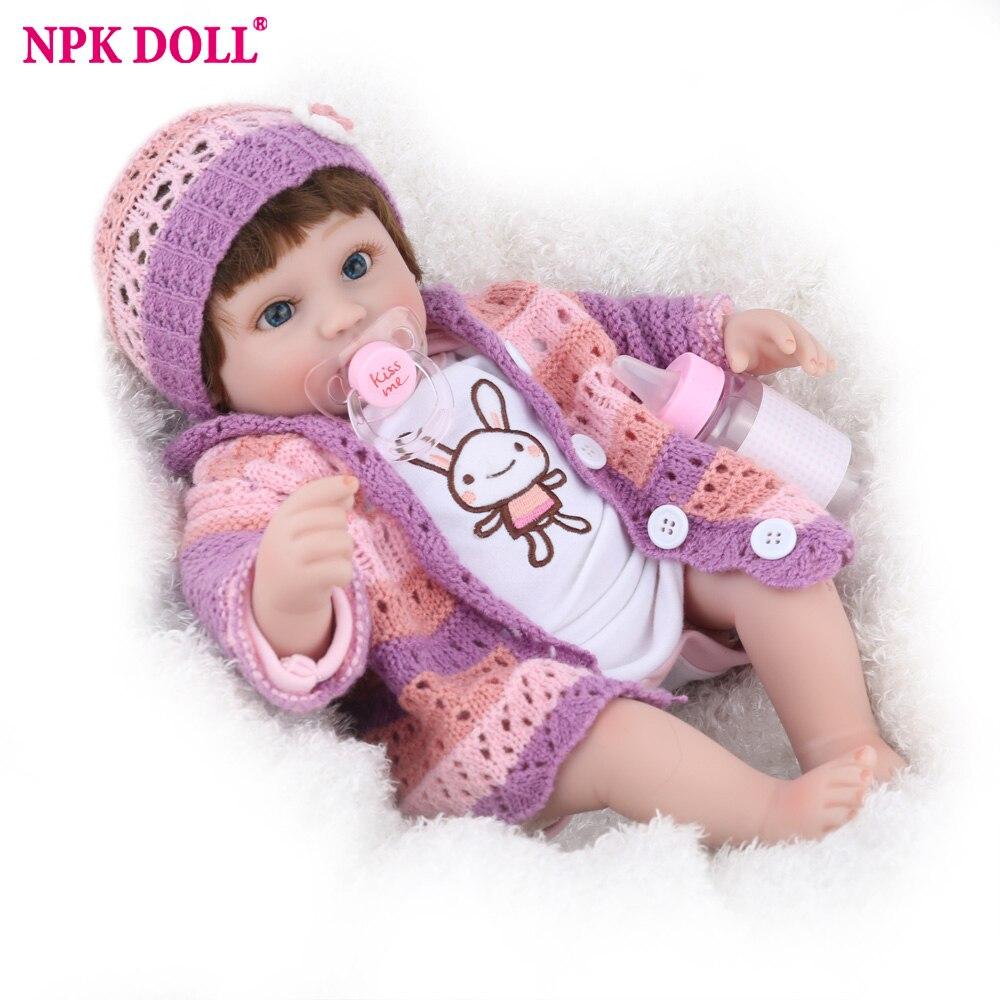 NPK poupée Reborn bébé plus récent 45 cm lapin fille Promotion livraison directe cadeau d'anniversaire 16 pouces enfants cadeaux d'anniversaire préférés perruques