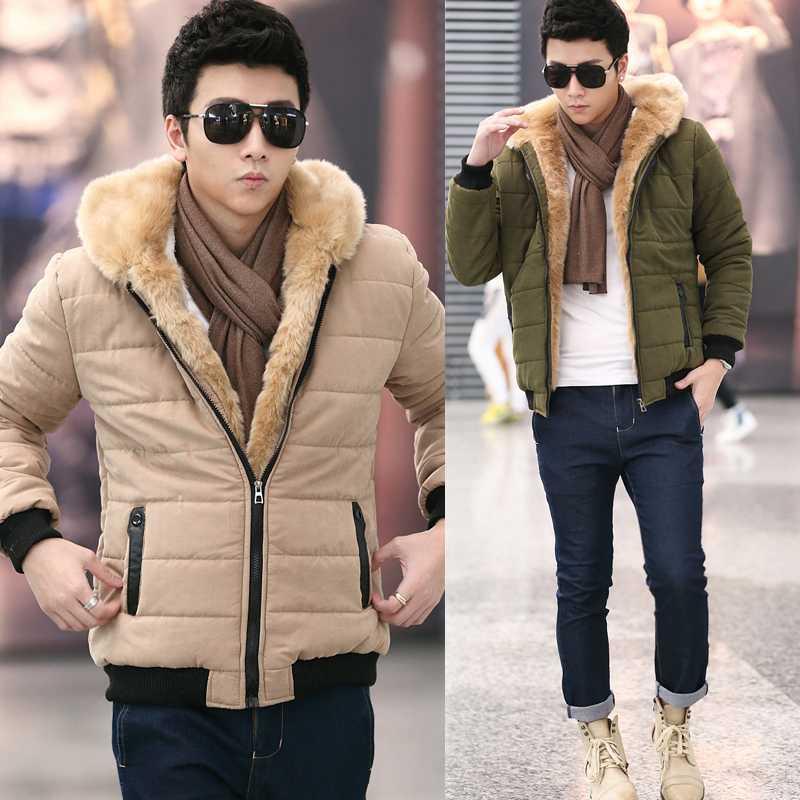 2015 New Mens Winter Jacket Men's Wadded Coats Outerwear Male Slim Casual Cotton Outdoors Outwear Jackets Size S-XXL H4586 2016 hot sale brand new winter outdoors jacket men wadded coats fashion outerwear casual jackets jackets