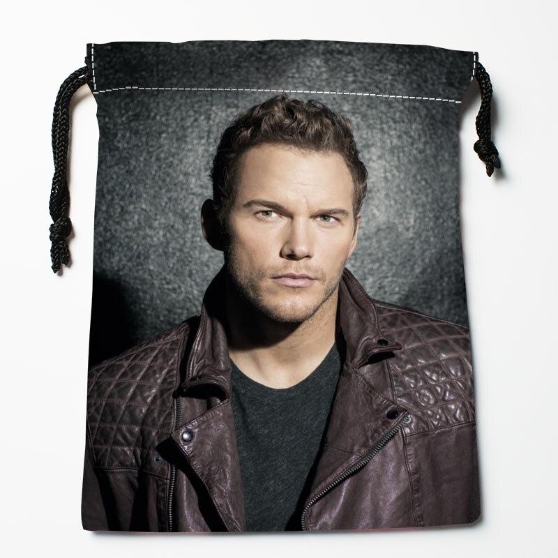 Chris Pratt Drawstring Bags Custom Storage Bags Printed Gift Bags More Size 27x35cm DIY Your Picture Custom Drawstring Bag
