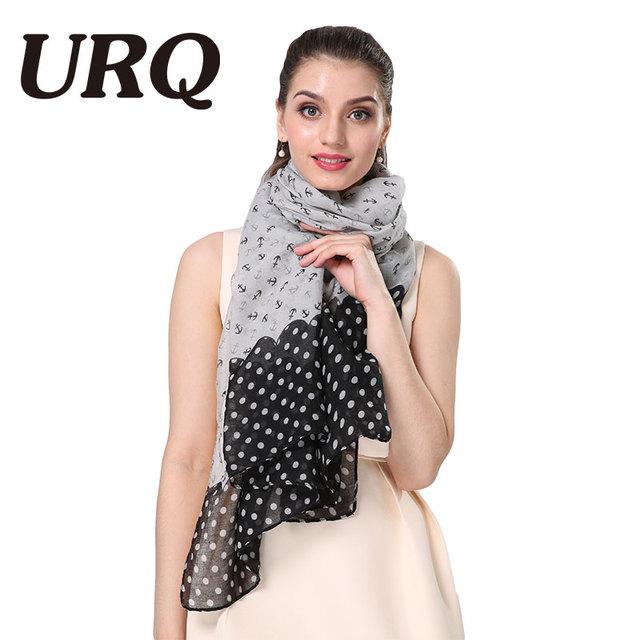 print Anchor scarf for women long fashion Bandana Luxury brand design dot lady spring scarves shawl soft personal style
