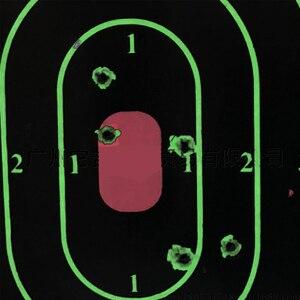 "Image 3 - 25 PCS Target Shooting 12""x18"" Silhouette Splatter Reactiveb Target Paper Targets Fluorescent Green For Gun or Archery Shooting"