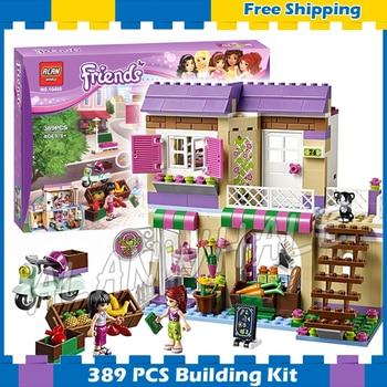 389pcs Friends Heartlake City Food Market Store Mia Maya 10495 Model Building Brick Blocks Sets Gifts sets Compatible With Lego гранд отель конструктор