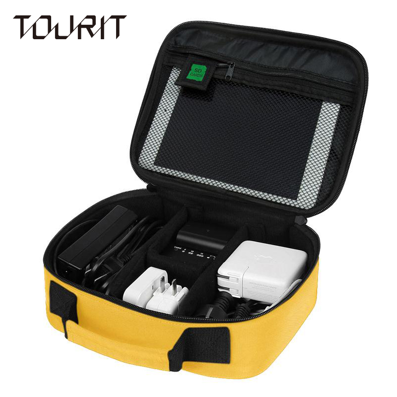 TOURIT Date Cable Digital Accessories Data Charger Wire Storage Bag Mp3 Earphones Usb Flash Drive Organizer