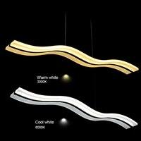 Modern LED Pendant Lights Fixture Wave Acrylic Lustres Lamp LED White Suspension Pendant Lamp For Living