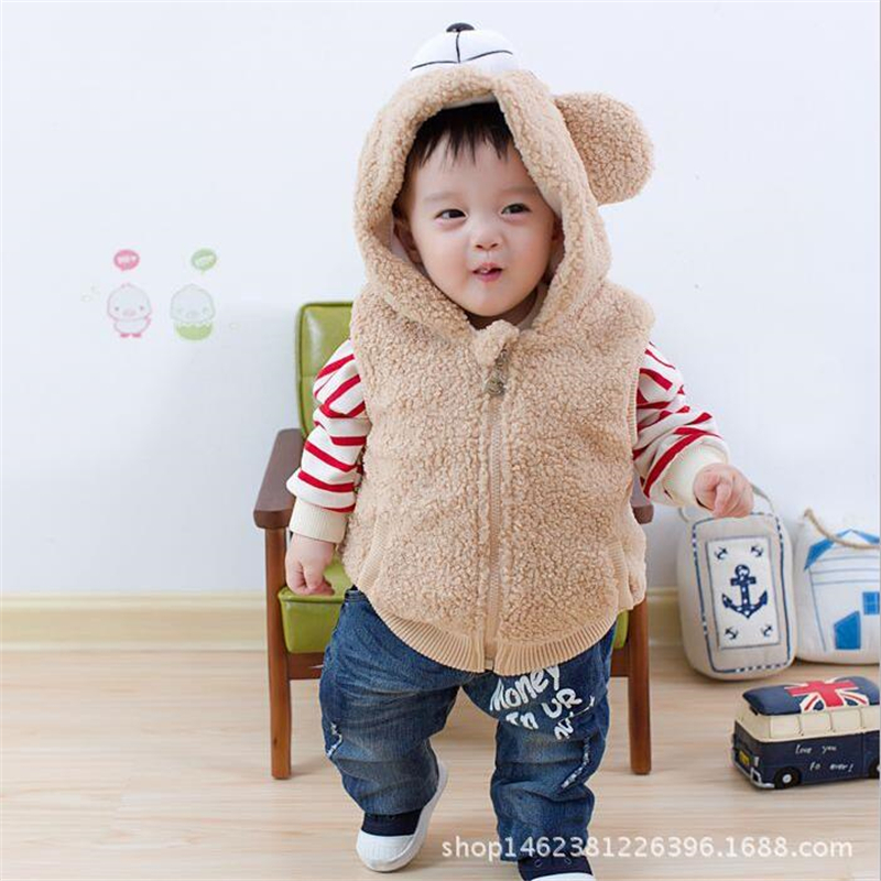2018 Cute Cartoon Bear Design Kinder Westen Herbst Winter - Kinderkleidung - Foto 4
