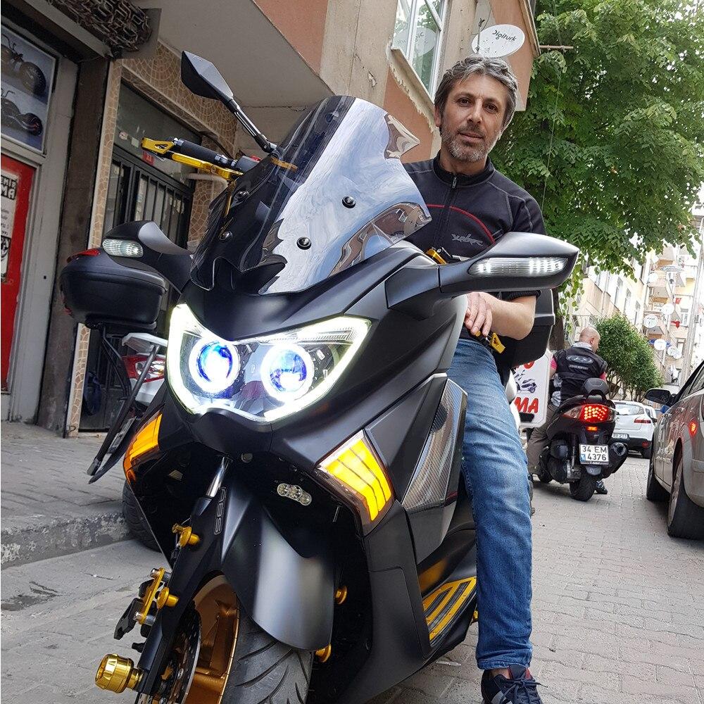 Modificato parti del motociclo Faro HID head light LED del faro anteriore lampade per YAMAHA NMAX 155 NMAX155 NMAX125 2016 2017 2018