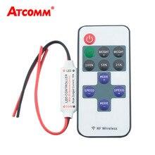 Беспроводная одноцветная Светодиодная лента с 10 клавишами, диммер, постоянный ток, 12 В, 10 клавиш, пульт дистанционного управления для SMD 5050, 2835, 3014, 5630, светодиодная лента