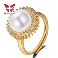 FOREVER Retro Classic Royal Gold Plated Ring Fashion Flexible Engagement Wedding Jewelry For Women Charms S925