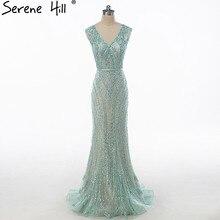 יוקרה V צוואר בת ים טול שמלת ערב ואגלי קשה עבודה ארוך ערב שמלות 2020 Serene היל LA6049