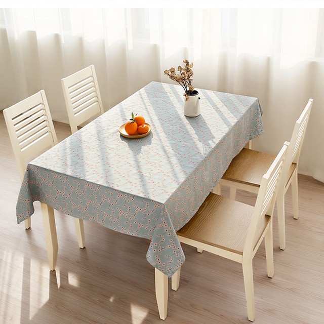 Coffee Table Covers Small Fresh Cotton Pastoral Stereo Blue Cover  Rectangular Square Cloth Table Table Covers